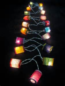 Lantern Outdoor String Lights 20 Colourful Mini Led String Paper Lanterns Lights Home Mood Patio Ebay