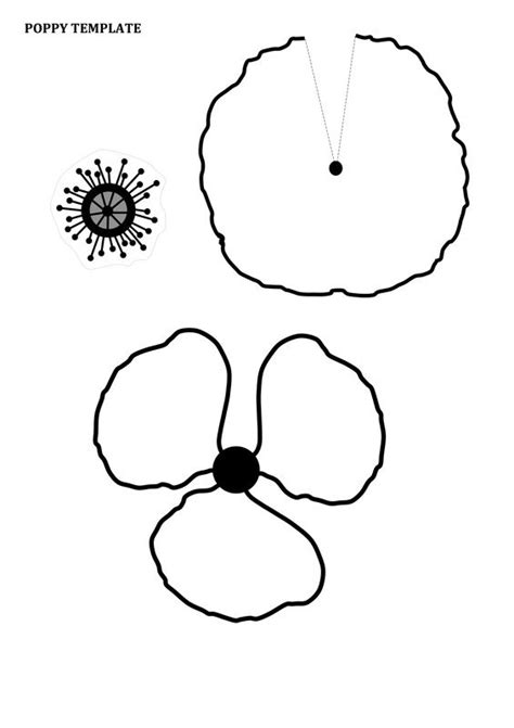 printable poppy template the 25 best ideas about poppy template on big