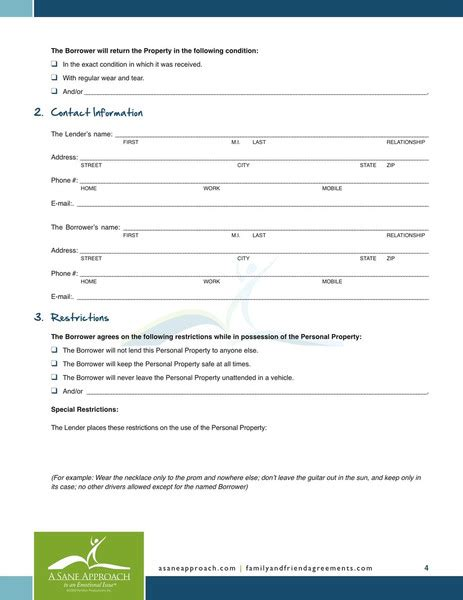 personal loan agreement template free free printable personal loan agreement form generic