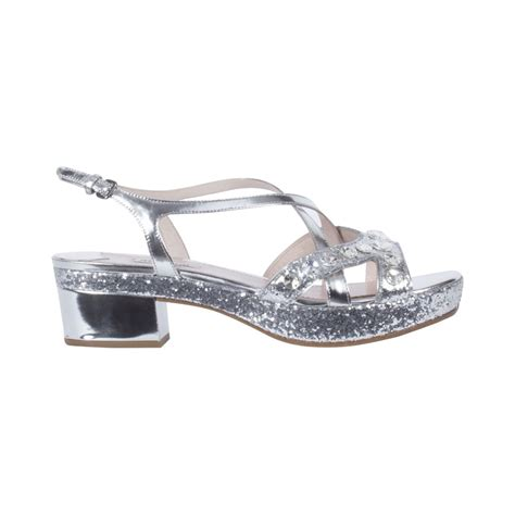 Sandal Glitter miu miu silver 5xp506 women s glitter sandal