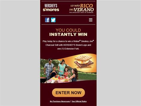 Hershey Sweepstakes 2015 - hershey s 2015 summer s mores grilling instant win game