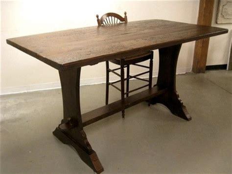 bar height farmhouse table bar height 42 quot trestle table for bar farmhouse