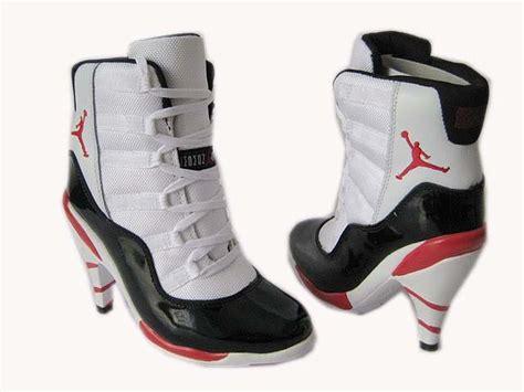 retro 11 high heels shoes white black air