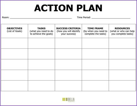 sample action plan jobproposalideas com