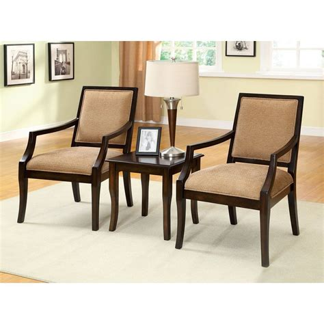 3 piece living room furniture shop furniture of america 3 piece boudry espresso living