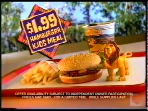 lions cucine burger king king kid s meal television commercial