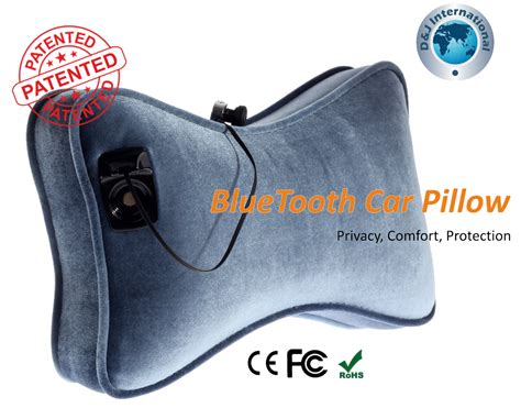 Bluetooth Pillow Speakers by Bluetooth Car Pillow Patented Product From D J