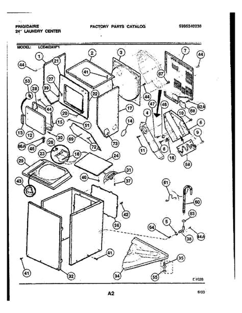 frigidaire washer parts diagram frigidaire lce462aw1 24 quot washer dryer partswarehouse