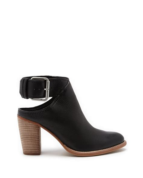 dolce vita jacklyn leather ankle boots in black lyst