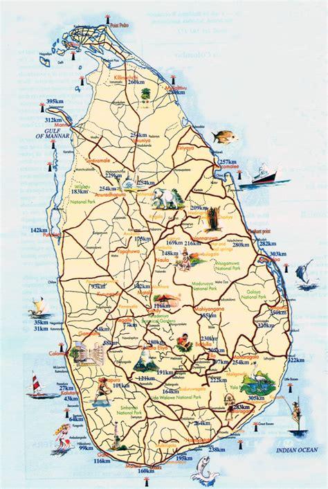 tourist map of maps of sri lanka detailed map of sri lanka in