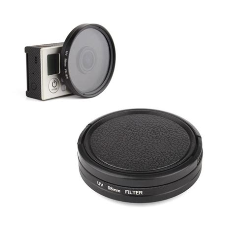 Gopro 5 Uv Filter 58mm Lens With Adapter Ring And Lens Cap 3 in 1 58mm uv filter set with adapter lens protector for