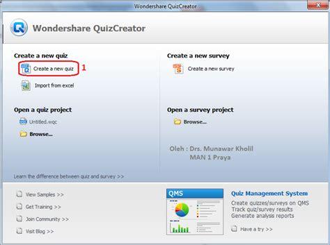 membuat quiz creator online tutorial membuat alat evaluasi dengan wondershare quiz