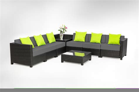 indoor outdoor sectional mcombo 8pc black wicker patio sectional indoor outdoor