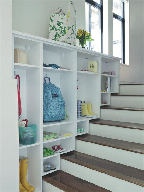 stairway storage maximize small space storage hgtv