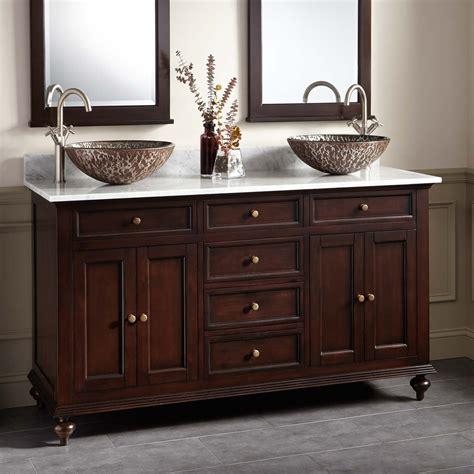 keller mahogany double vessel sink vanity dark espresso vessel sink vanities bathroom