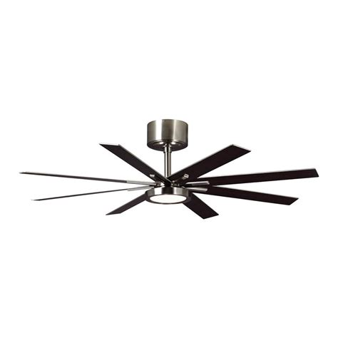 Shop Monte Carlo Fan Company Empire 60 In Brushed Steel 60 In Ceiling Fans With Lights