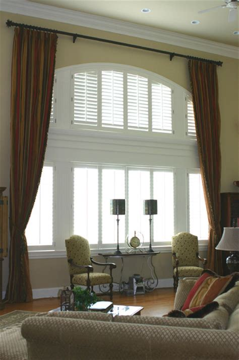 two story window drapes off the wall interiors two story styling traditional