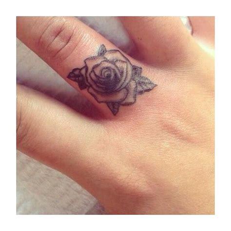 finger rose tattoo mini finger placement