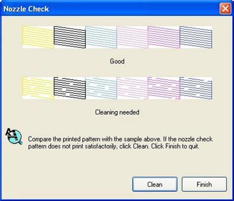 test pattern epson inkjet printer maintenance photo review