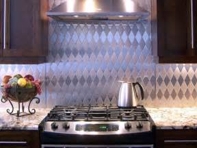 kitchen backsplash metal stainless steel backsplashes hgtv