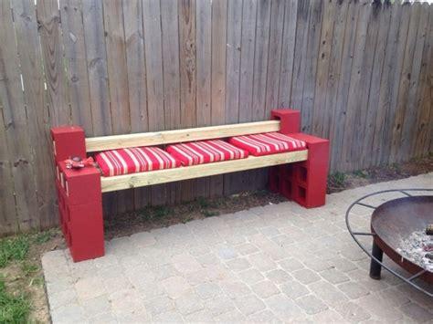 cement block bench diy cinder block bench in the garden creative ideas for