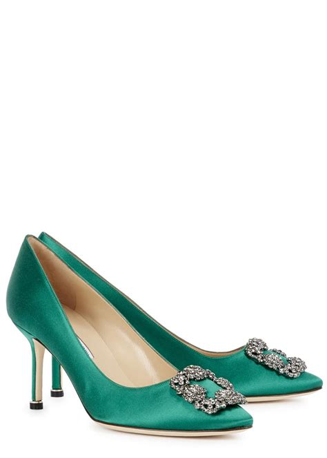 Sepatu M4nolo Blahnik Green Emerald manolo blahnik green pumps louboutinfactory
