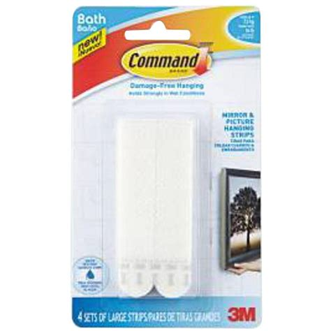 command strips bathroom command large bath picture hanging water resistant refill