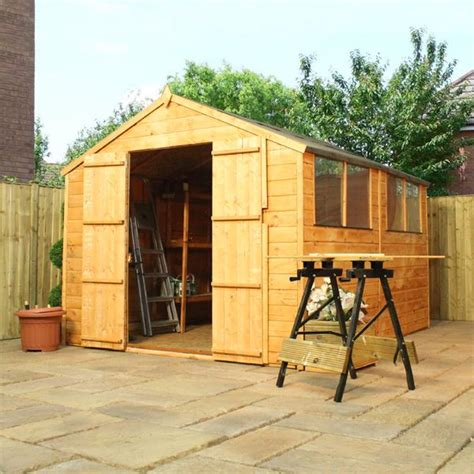 10 x 8 waltons overlap apex wooden shed waltons sheds
