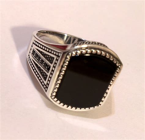 turkish jewelry 925 sterling silver black onyx
