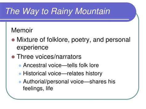 The Way To Rainy Mountain Essay by Ppt Ap Iii Language And Composition Powerpoint Presentation Id 1902516