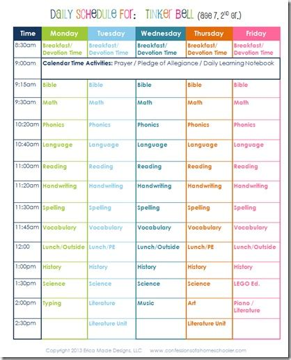 Daily Homeschool Schedule 2nd Grade Confessions Of A Homeschooler Second Grade Schedule Template