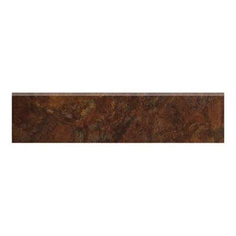 marazzi imperial slate 3 in x 12 in rust ceramic