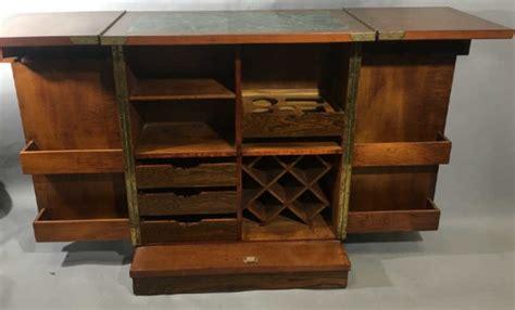 Granite Top Bar Cabinet Asian Granite Top Carved Wood Bar Cabinet