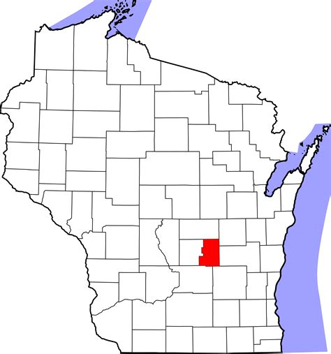Lake County Door by Green Lake County Wi Map Images