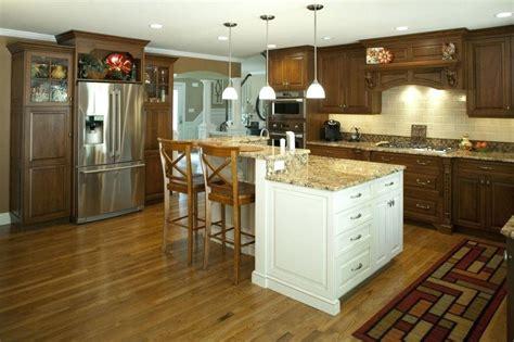 2 level kitchen island l shaped kitchen with island center