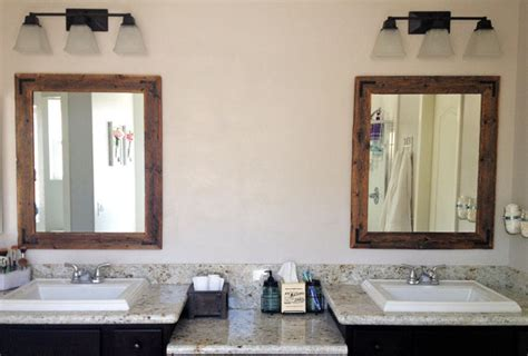 wood framed mirrors for bathrooms ready to ship 34x36 bathroom mirror reclaimed wood framed