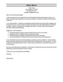Career Specialist Cover Letter by Best Payroll Specialist Cover Letter Exles Livecareer Resume Cover Letter Template