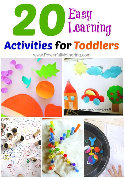 crafts actvities and worksheets for preschool toddler and 20 easy learning activities for toddlers