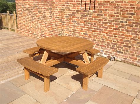 round garden bench table round garden tables e timber products