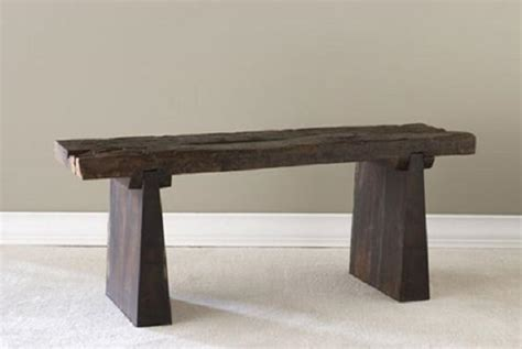 railroad tie bench bambeco end tables with eco flair