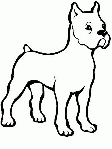 imagenes para dibujar un perro dibujo perro boxer para colorear rincon util