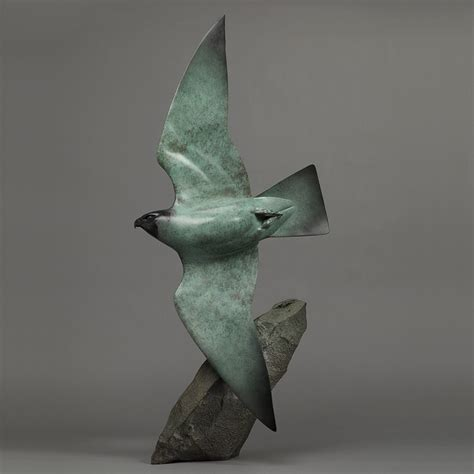 And Bird Sculptures by Peregrine Falcon Ltd Edition Bronze Sculpture By Nick Bibby