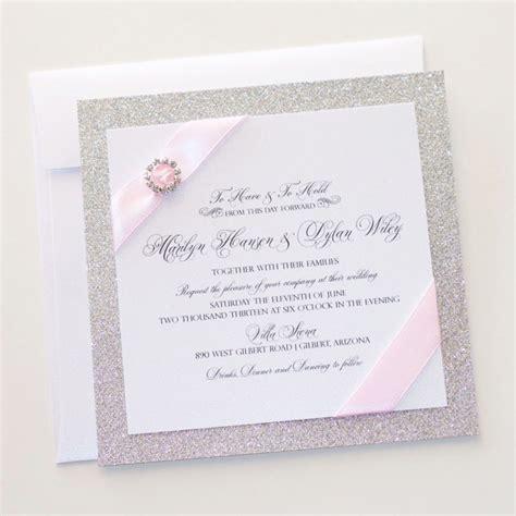 wedding invitations white and pink wedding invitation