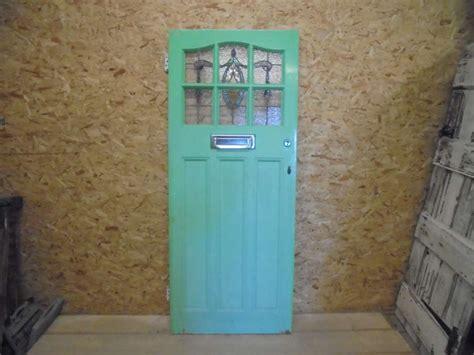 half glass front door reclaimed stained glass half glazed front door authentic