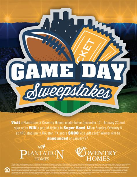 Sugarland Sweepstakes - plantation homes game day sweepstakes summer lakes