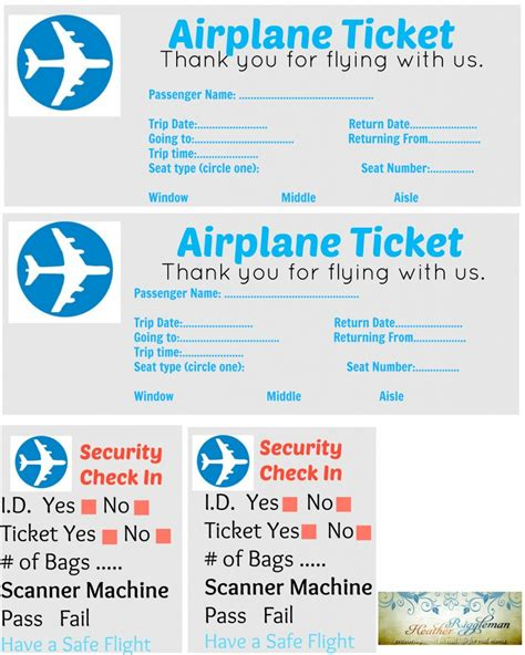 Pretend Plane Ticket Template by 4 Cabin Fever Sanity Savers With Printables The