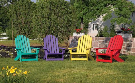 Outdoor furniture adirondack collection breezesta recycled poly backyard patio furniture