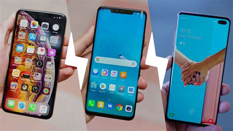 samsung galaxy s10 huawei mate 20 pro et apple iphone xs max quel smartphone choisir