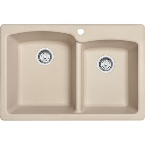 Franke Granite Kitchen Sinks Franke Eoch33229 1 Ellipse 33 Inch Dual Mount Bowl Granite Kitchen Sink In Cagne
