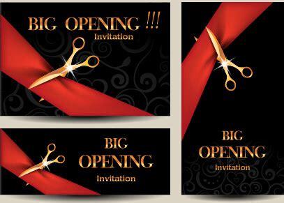 showroom opening ceremony invitation card  vector